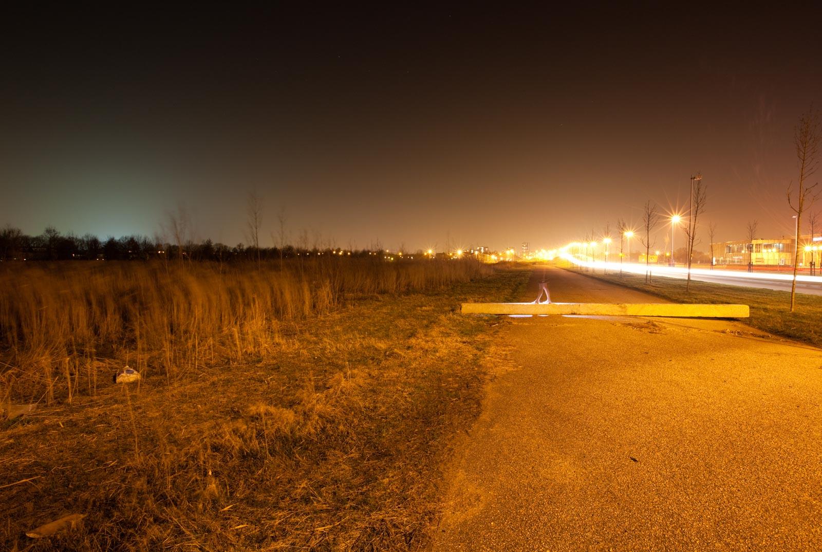 Nachtfoto uit de serie Sporen